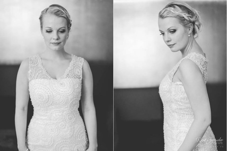Wedding dress with embroidered lace. Design by Lilli Norio Sewing by Me Pic by René Garmider