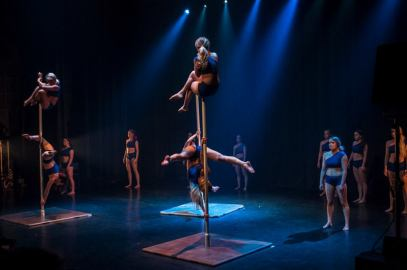 """Performing clothes from Ready Set Pole's Spring show """"Olennainen"""" Pic by Manuel / Iida Liimatainen & co"""