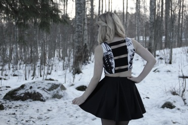 Top is made from Susanna Sivonen's fabric.