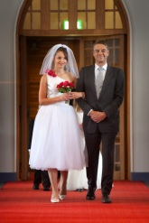 Wedding dress with tulle skirt